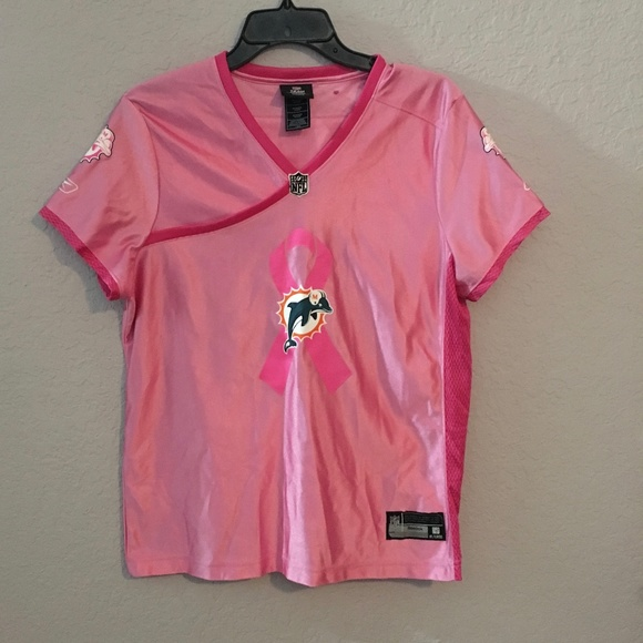new style 792cf bc4be Miami Dolphins Breast Cancer Jersey